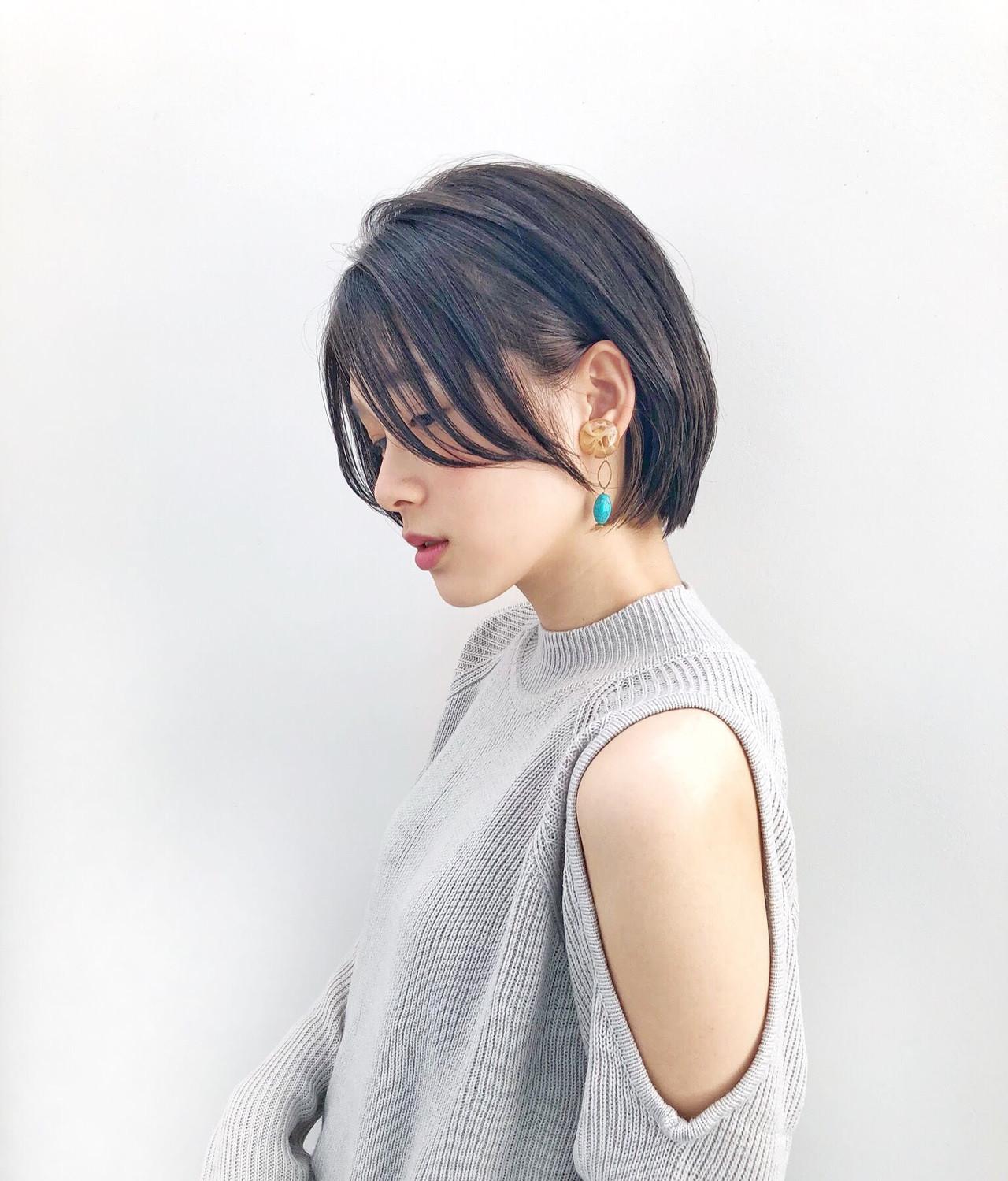 ショートボブ ショート ナチュラル 髪質改善カラー ヘアスタイルや髪型の写真・画像