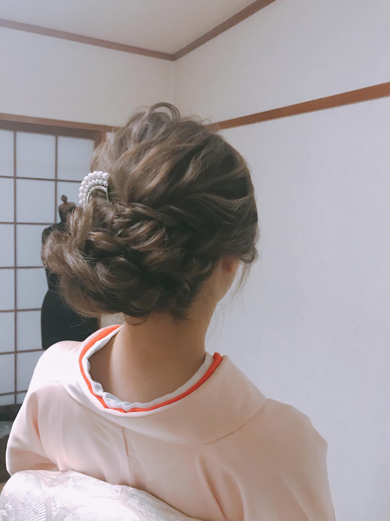 結婚式 着物 和服 エレガント ヘアスタイルや髪型の写真・画像