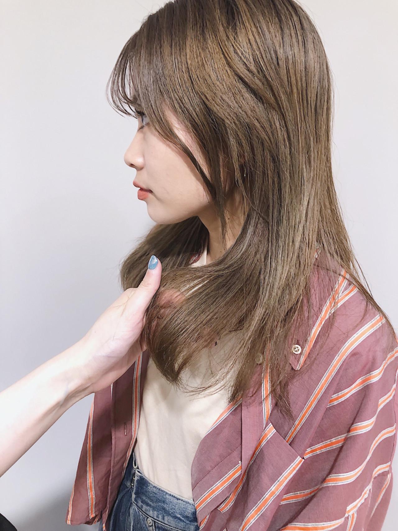 ガーリー 外国人風カラー ミディアム アンニュイほつれヘア ヘアスタイルや髪型の写真・画像