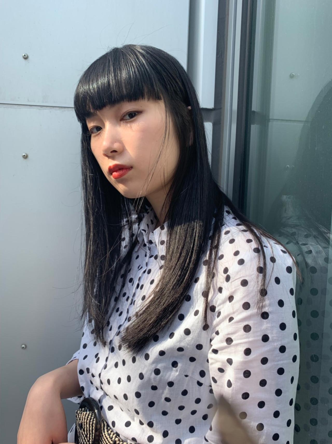 似合わせカット PEEK-A-BOO ロング モード ヘアスタイルや髪型の写真・画像