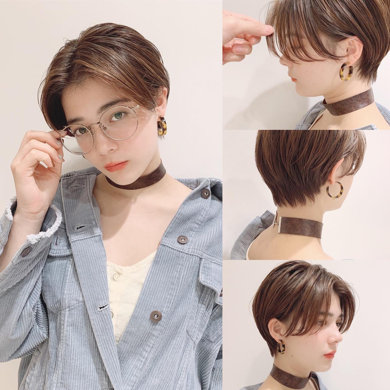 ハンサムなのに女性らしいフレンチショートボブ ショートヘア美容師 #ナカイヒロキ