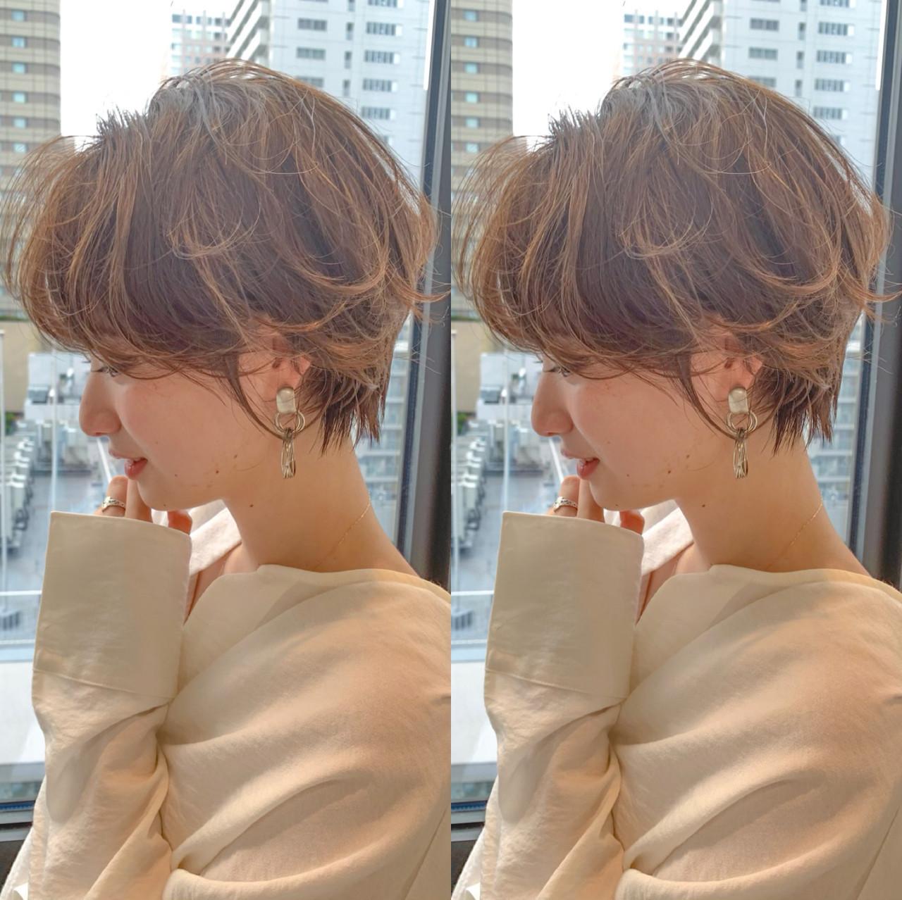 ショートパーマ ショート ガーリー ショートヘア ヘアスタイルや髪型の写真・画像