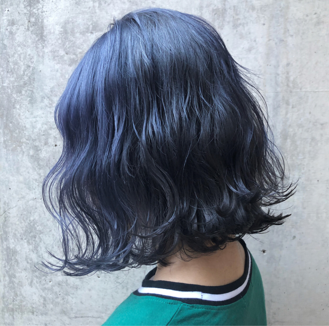 ストリート ブルーブラック 外国人風カラー ネイビー ヘアスタイルや髪型の写真・画像