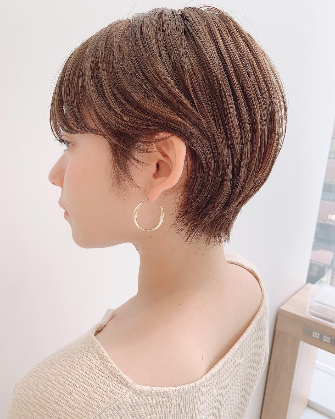 ショートヘア ナチュラル ショート ショートボブ ヘアスタイルや髪型の写真・画像