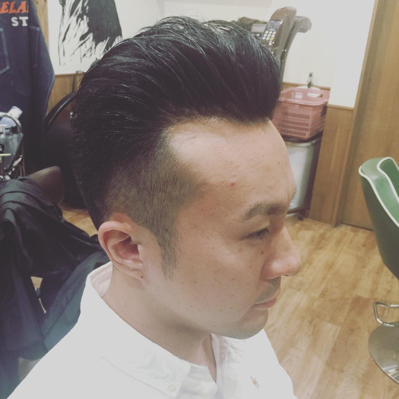刈り上げ オールバック ボーイッシュ ショート ヘアスタイルや髪型の写真・画像