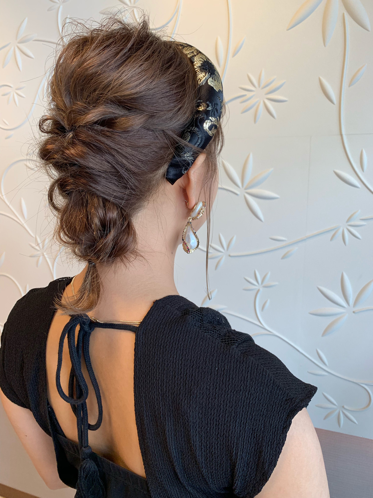 ミディアム エレガント デート 簡単ヘアアレンジ ヘアスタイルや髪型の写真・画像