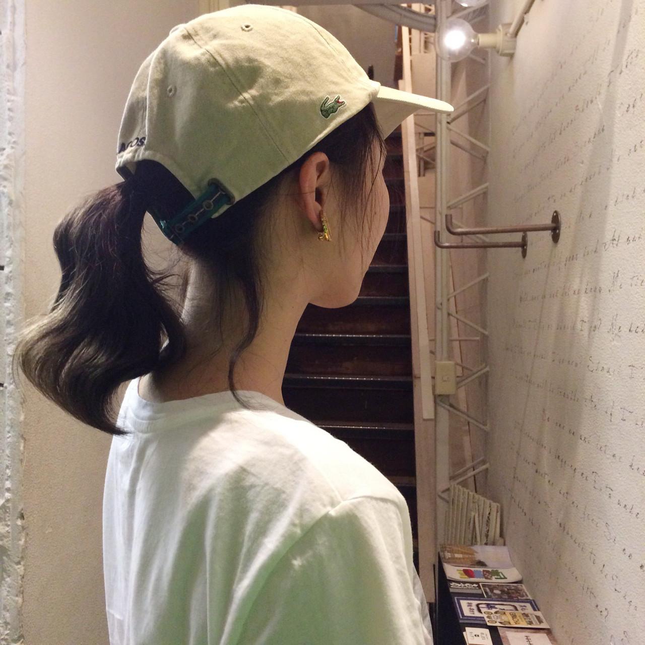 ストリート キャップ フェス ミディアム ヘアスタイルや髪型の写真・画像