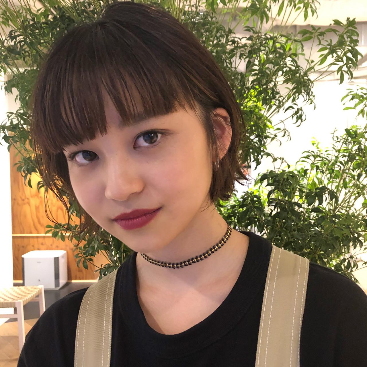 明るい表情に!ワイドバング×前髪ぱっつんヘア taichiro