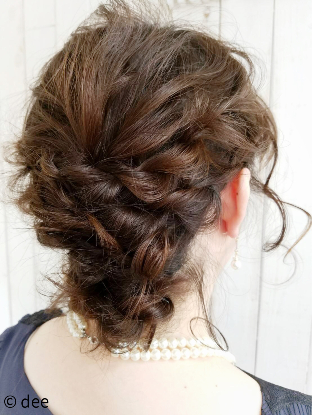 結婚式 ナチュラル ヘアアレンジ シニヨン ヘアスタイルや髪型の写真・画像
