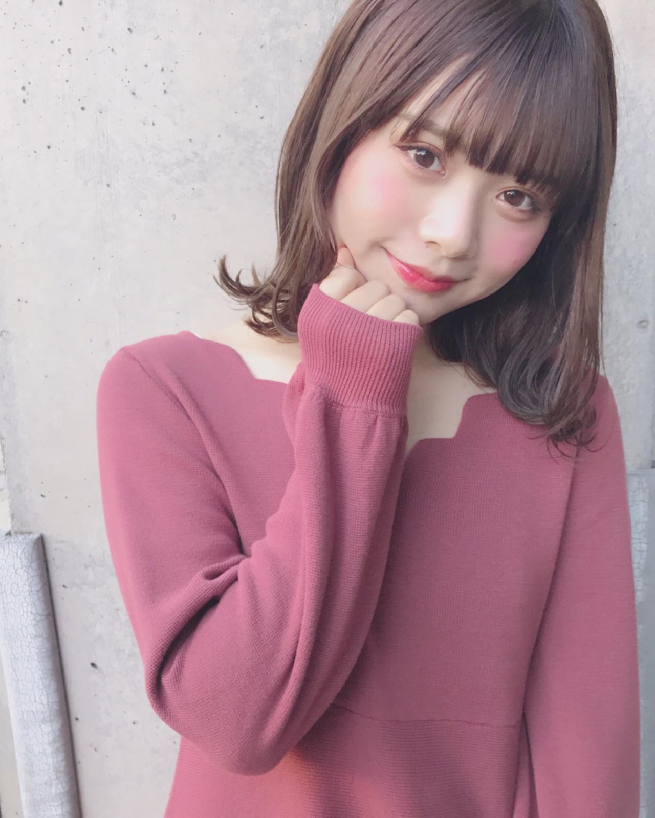 お嬢様風に♡シースルー×パッツンの男ウケ満点ヘア Wataru Maeda