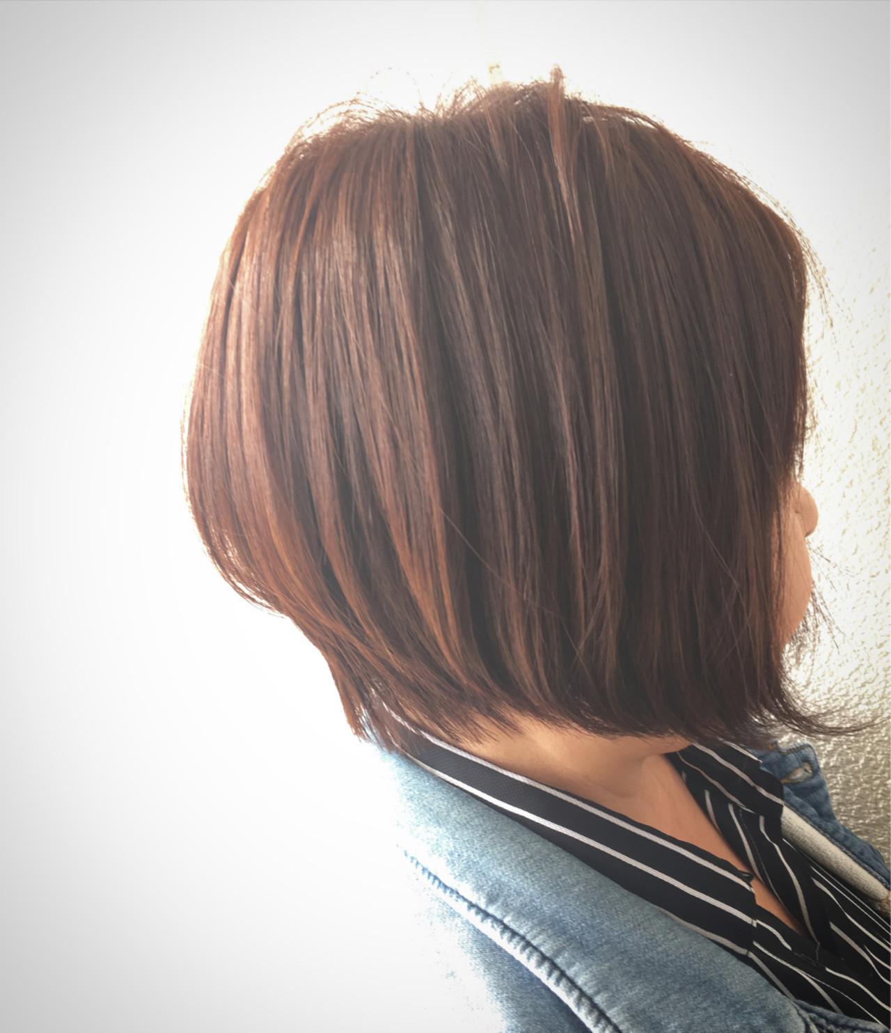 外国人風 前下がり 艶髪 ボブ ヘアスタイルや髪型の写真・画像