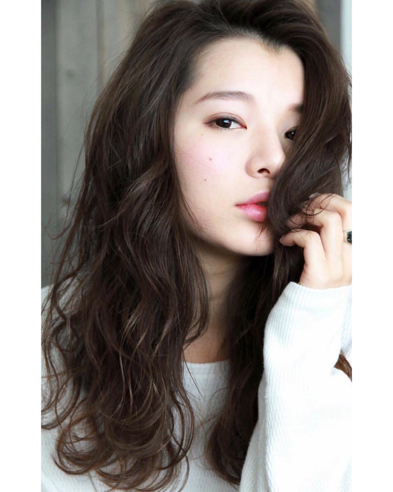 アンニュイほつれヘア ゆるふわパーマ ショコラブラウン パーマ ヘアスタイルや髪型の写真・画像