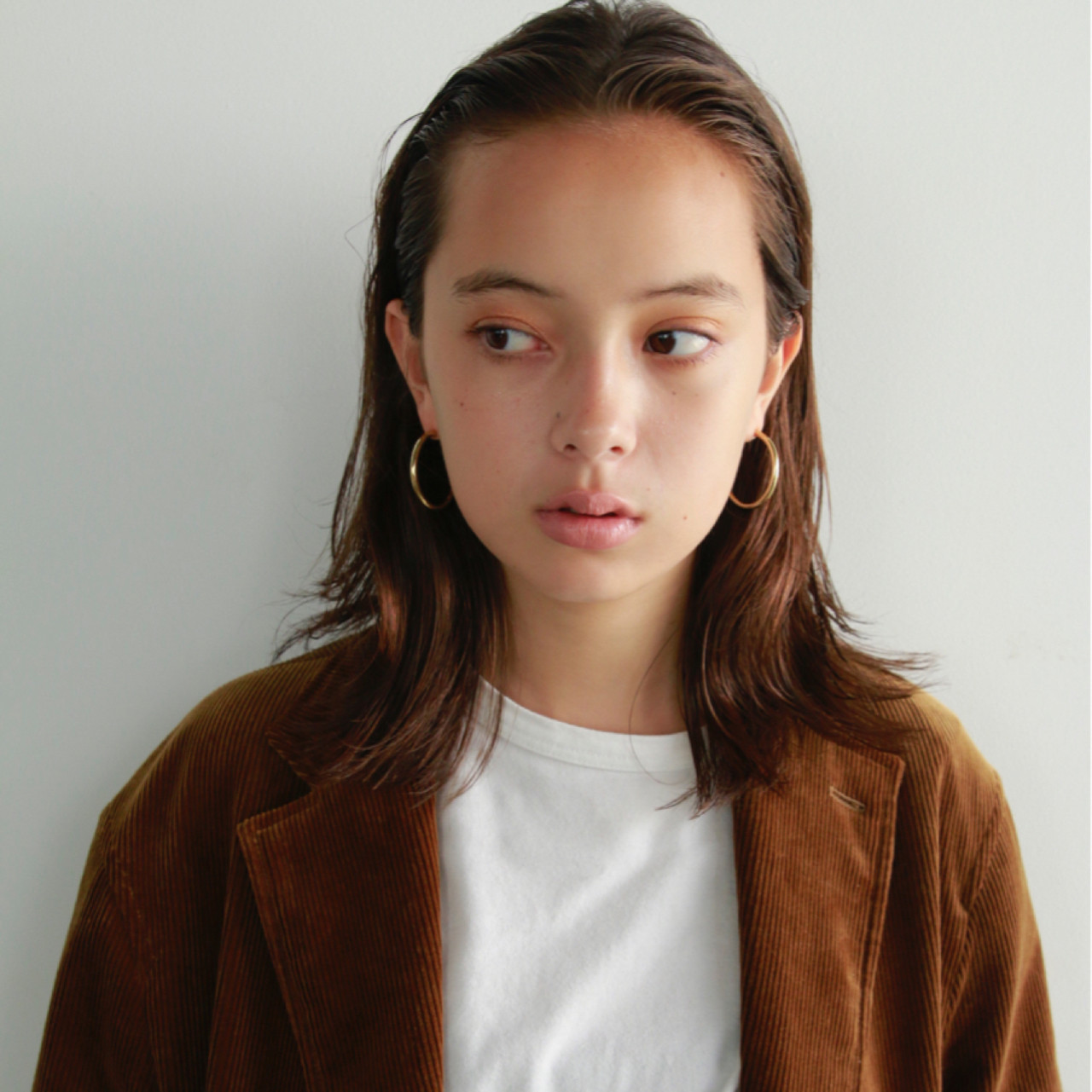 オールバック ゆるふわ ヘアアレンジ ミディアム ヘアスタイルや髪型の写真・画像