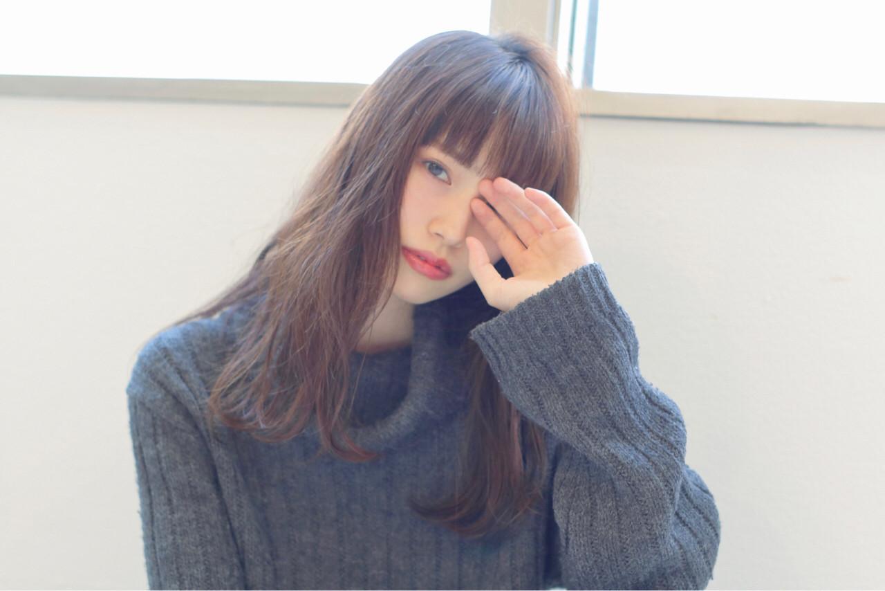 眉ラインで☆ロングバランスに似合うぱっつん前髪 阿部隆幸