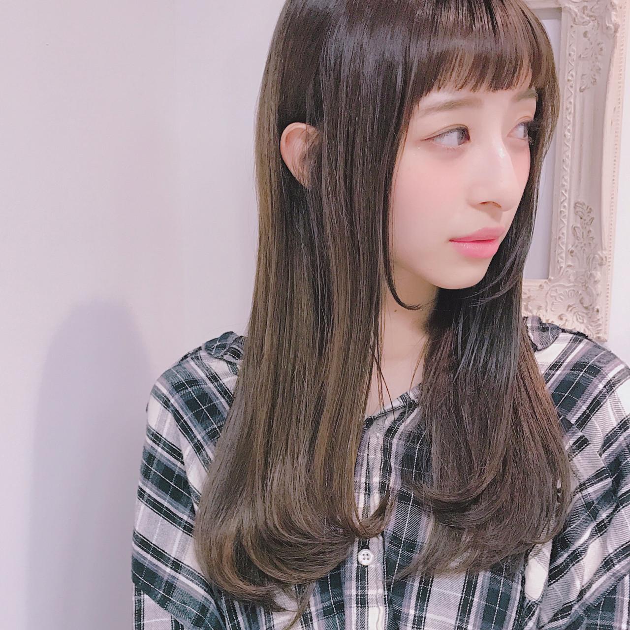 オン眉ぱっつん前髪でつくる垢抜け美人ヘア Wataru Maeda