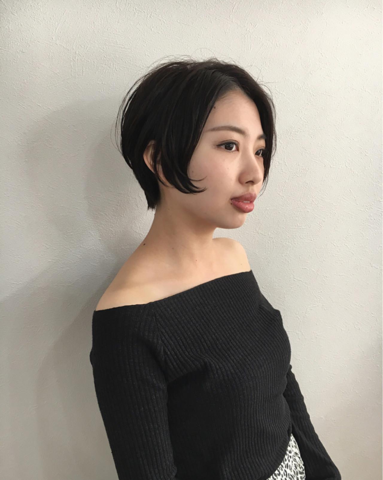 ショート ハンサム かっこいい モード ヘアスタイルや髪型の写真・画像