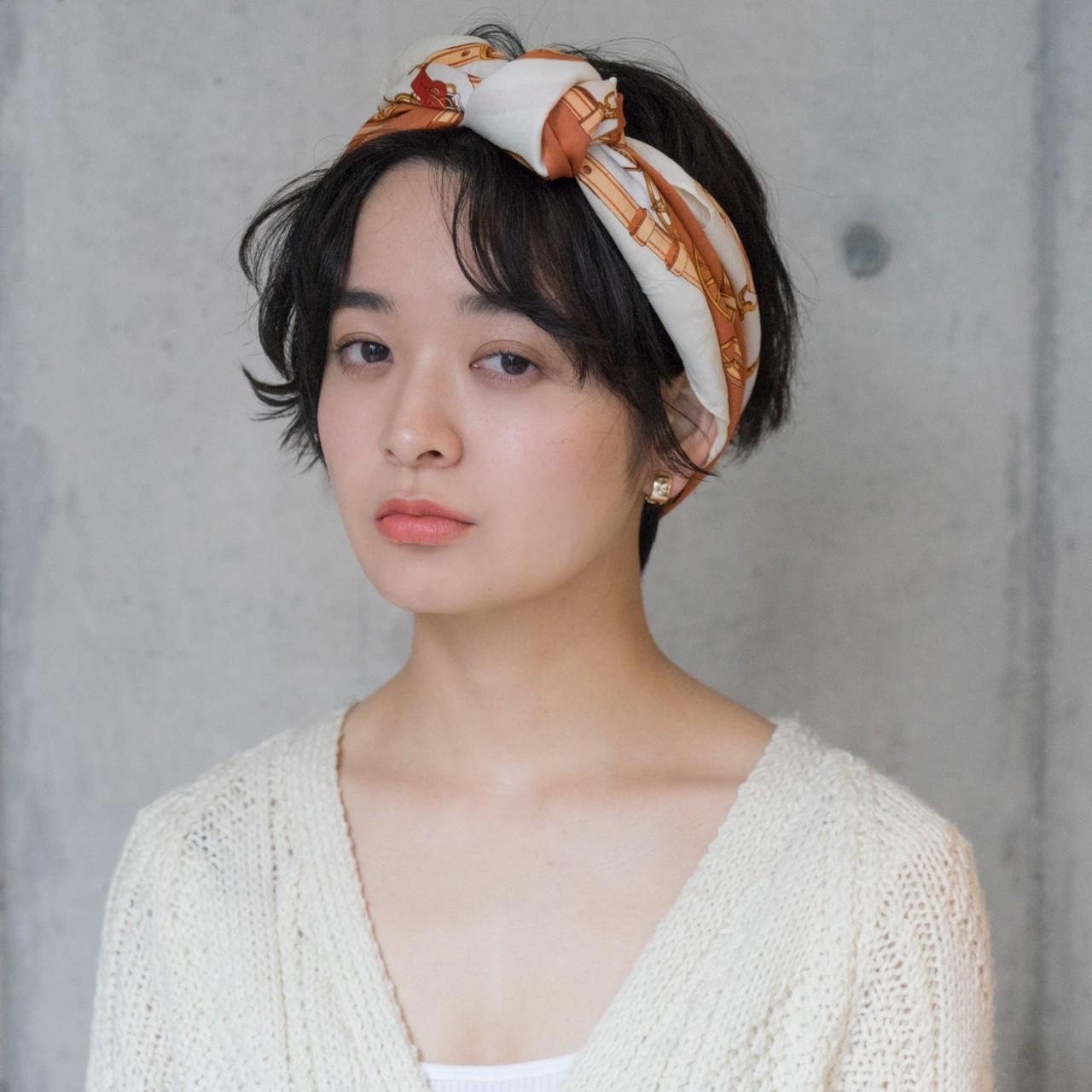 バンダナを使った前髪アップアレンジ タカハシ アヤミ  ROVER