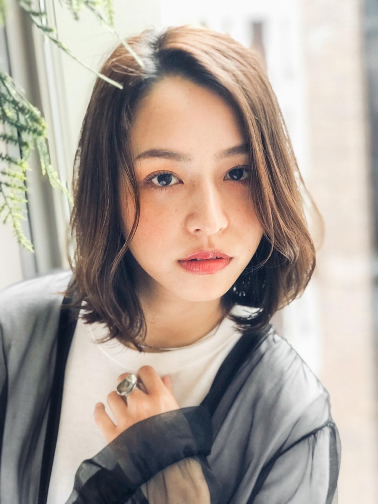 レイヤーカットで魅せるカジュアルミディアム GARDEN harajyuku 細田