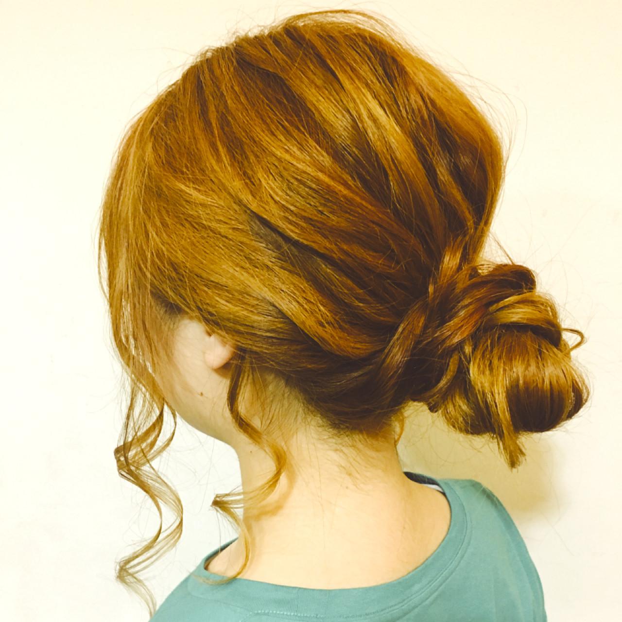 和装 ロング まとめ髪 ヘアアレンジ ヘアスタイルや髪型の写真・画像