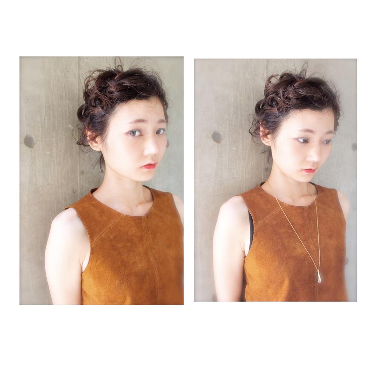 ショート ヘアアレンジ 外国人風 ヘアピン ヘアスタイルや髪型の写真・画像
