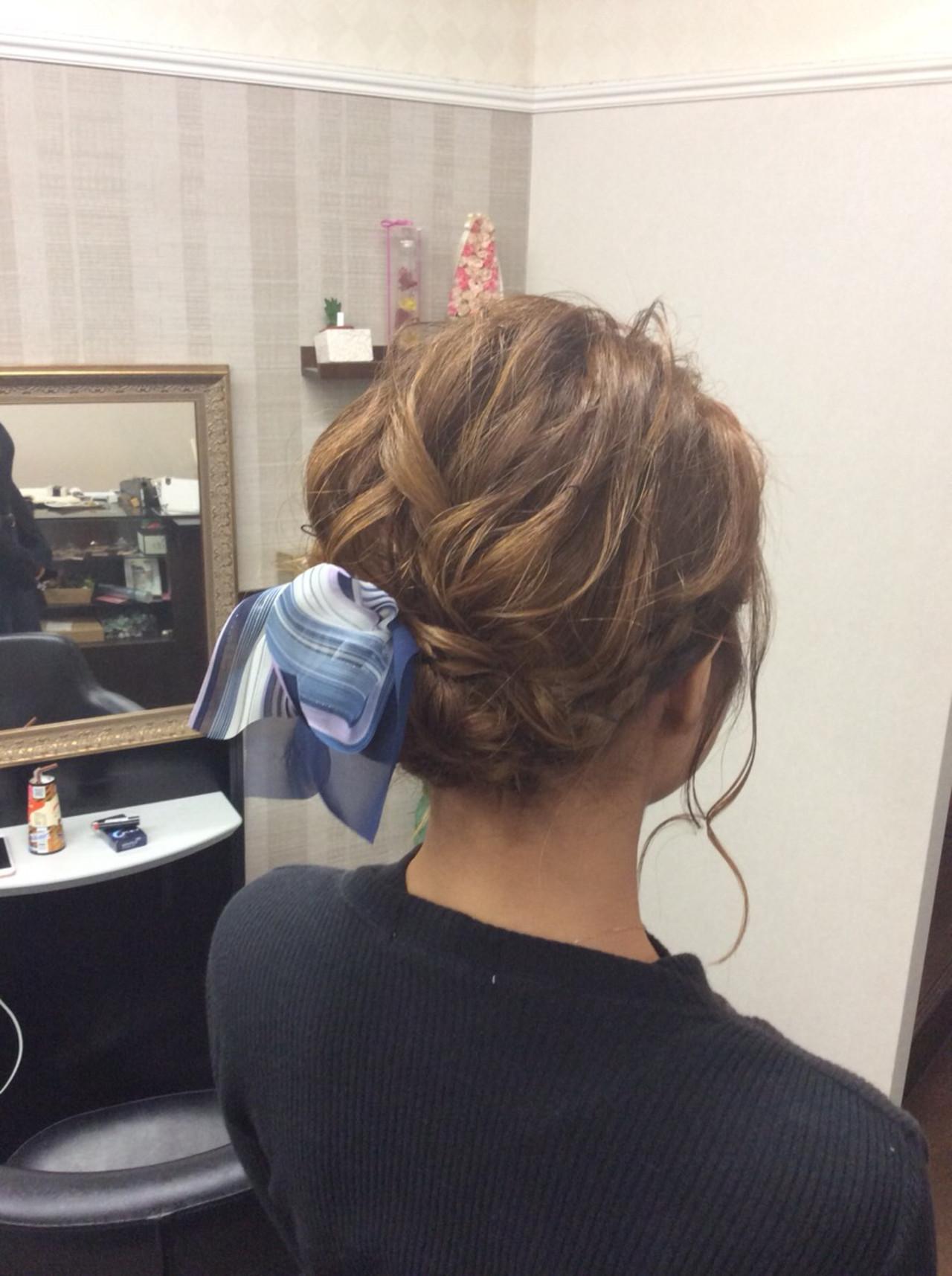ミディアム 結婚式 ナチュラル 簡単ヘアアレンジ ヘアスタイルや髪型の写真・画像