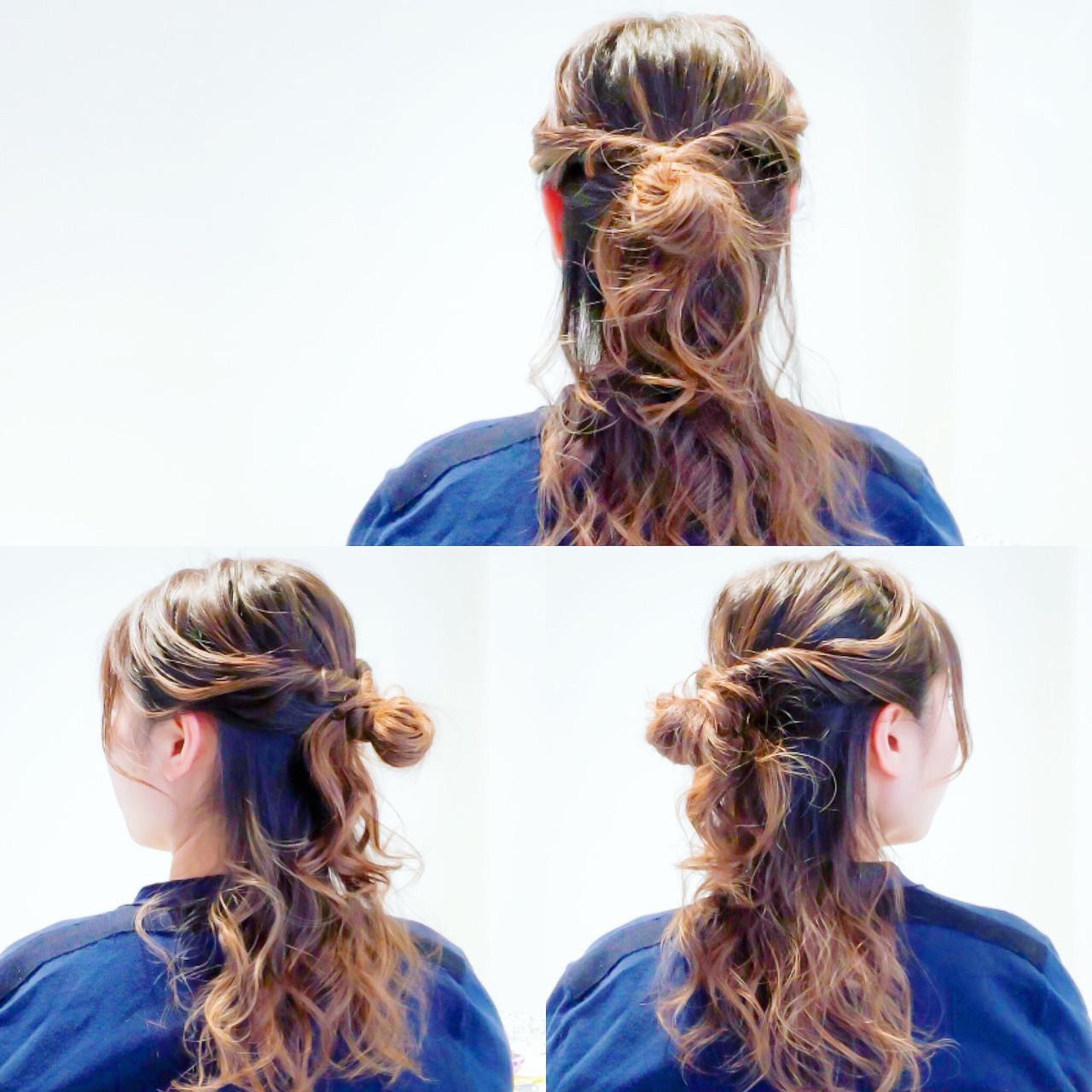 デート ロング ヘアアレンジ オフィス ヘアスタイルや髪型の写真・画像