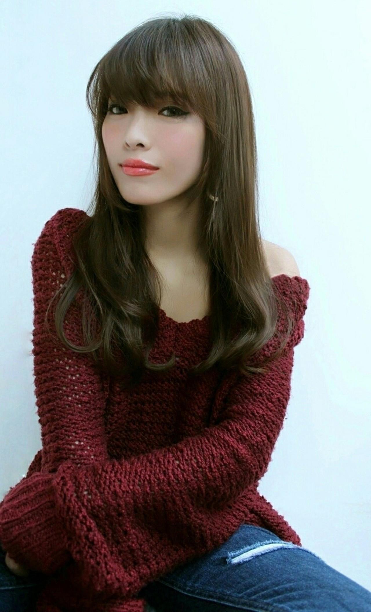 前髪あり ロング 大人女子 ラフ ヘアスタイルや髪型の写真・画像