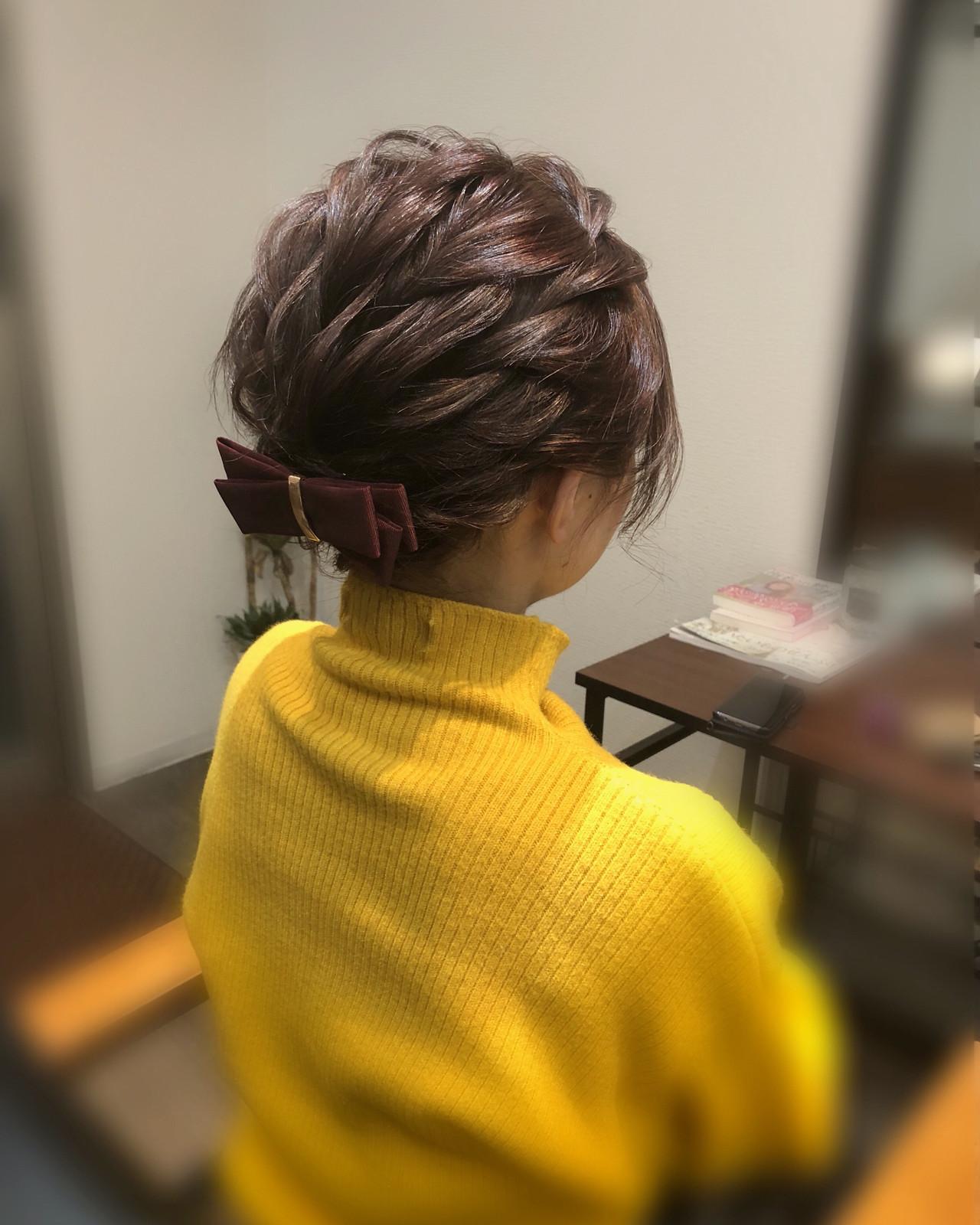 ショート ヘアアレンジ ショートアレンジ ヘアセット ヘアスタイルや髪型の写真・画像