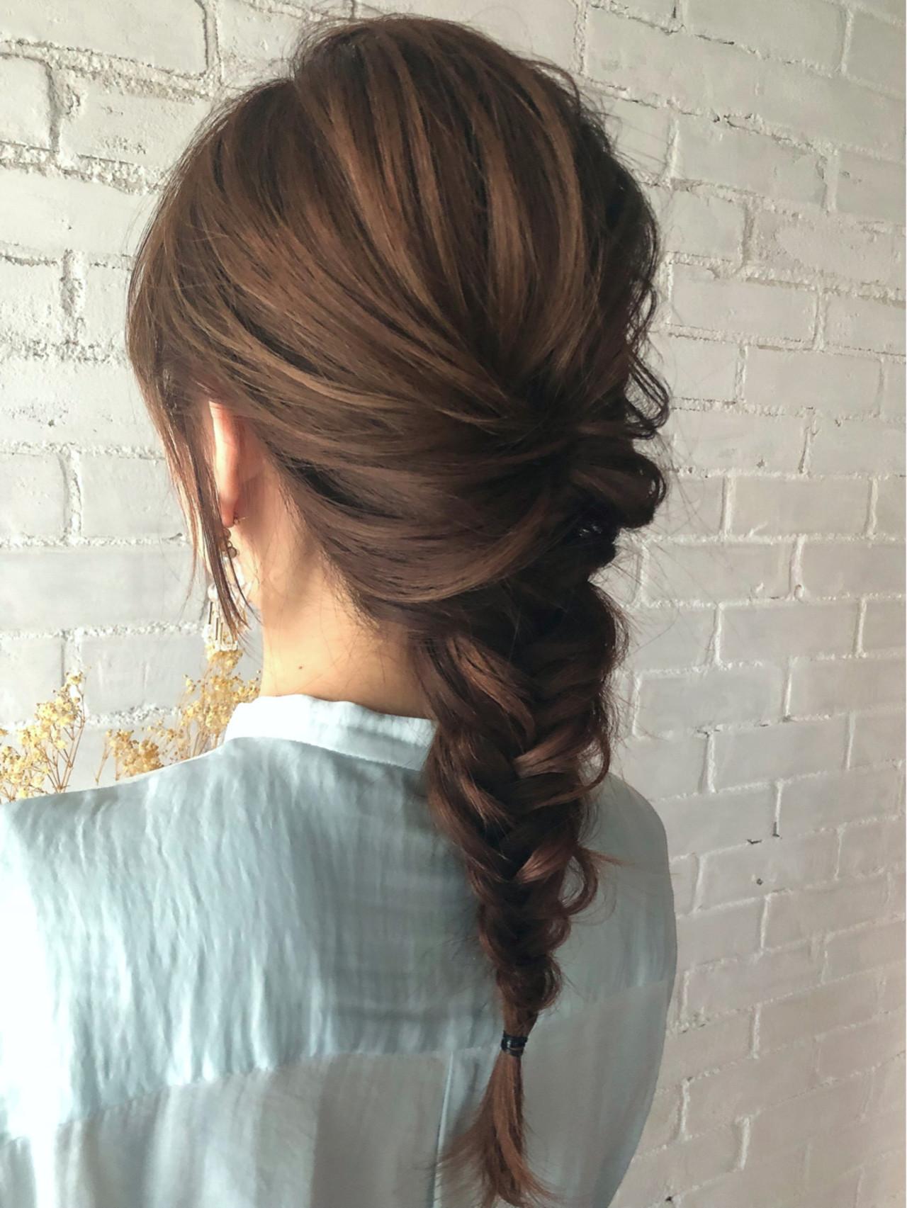 簡単ヘアアレンジ フェミニン まとめ髪 ロング ヘアスタイルや髪型の写真・画像