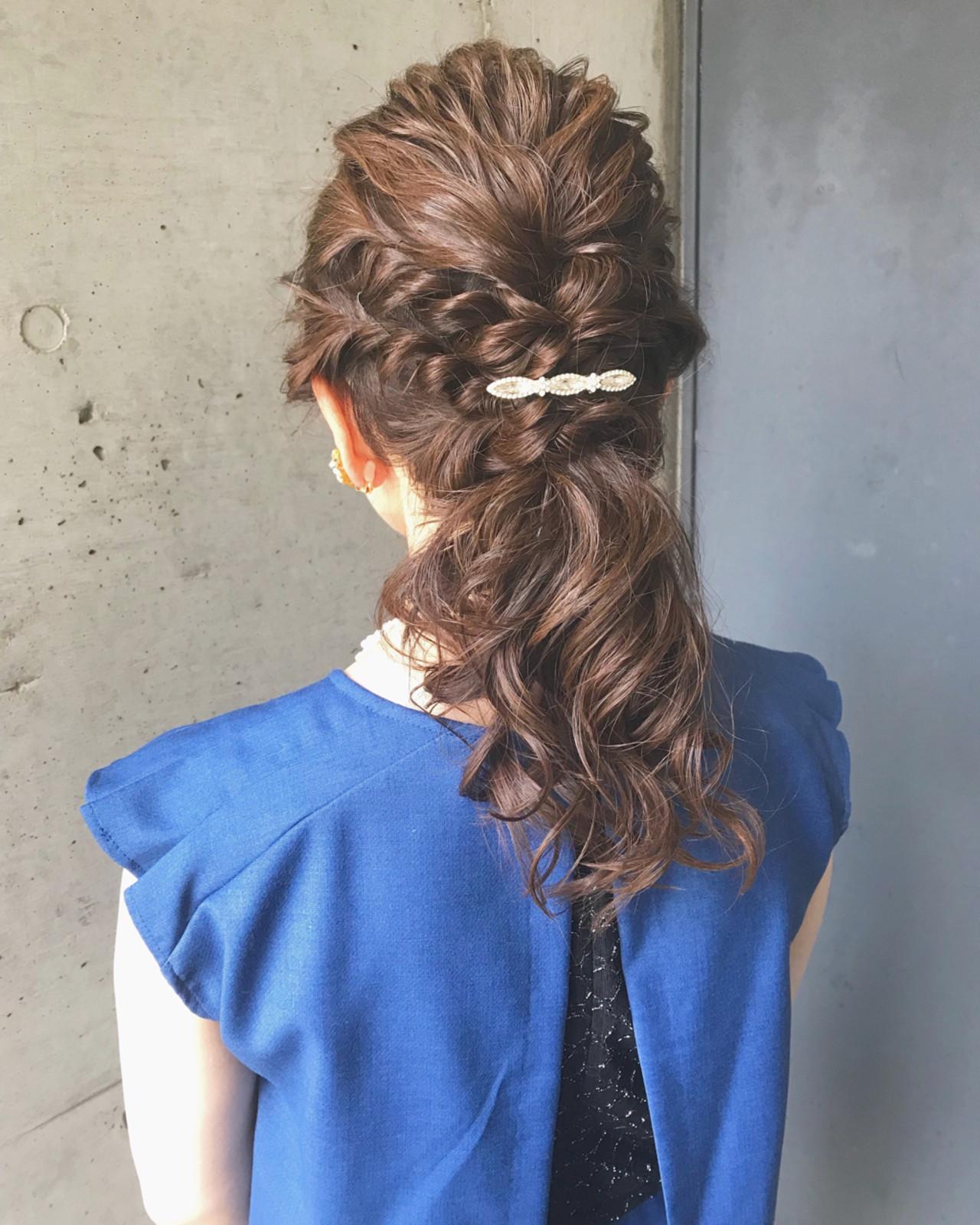 結婚式にぴったりサイド編み込みアレンジ ♡ m i w a ♡schritt渋谷  schritt (シュリット)渋谷