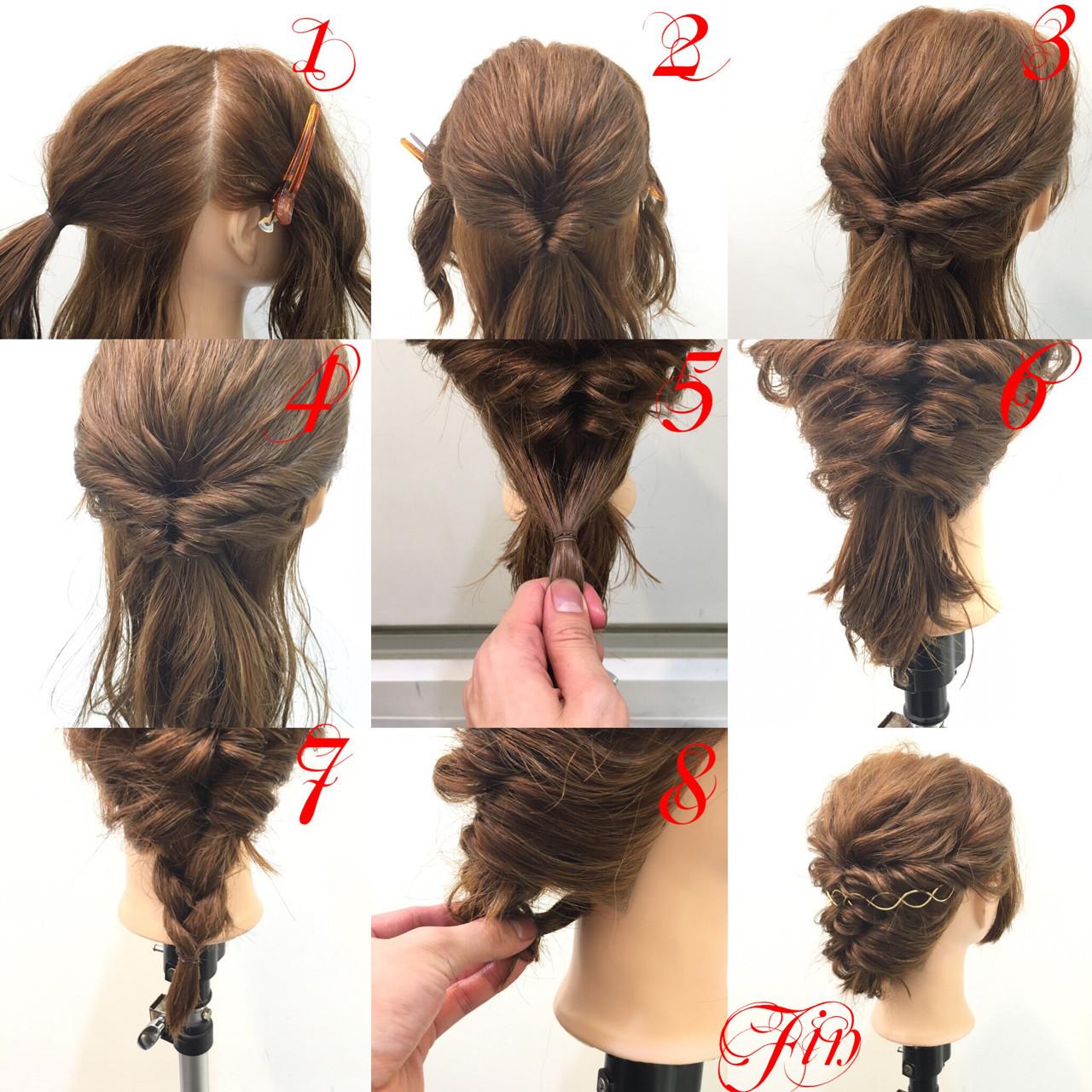 まとめ髪 ヘアアレンジ 簡単ヘアアレンジ ショート ヘアスタイルや髪型の写真・画像