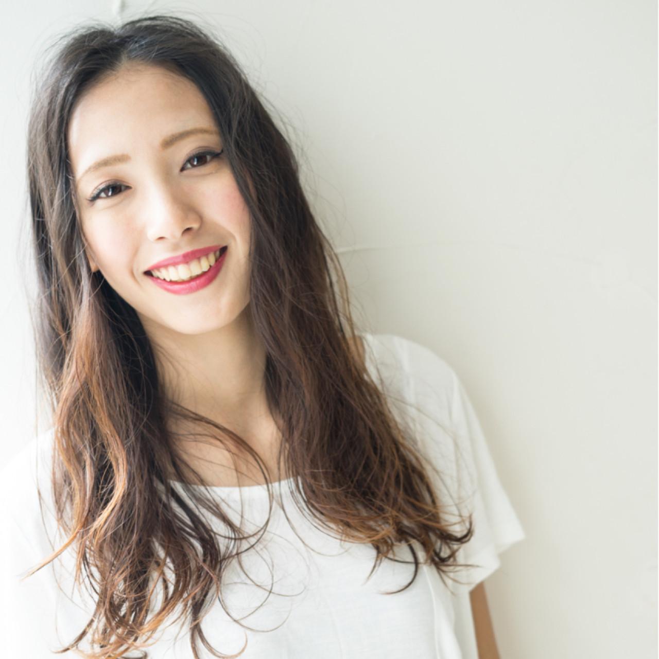 かきあげ風センターパートはカジュアルな可愛さ 山田涼一
