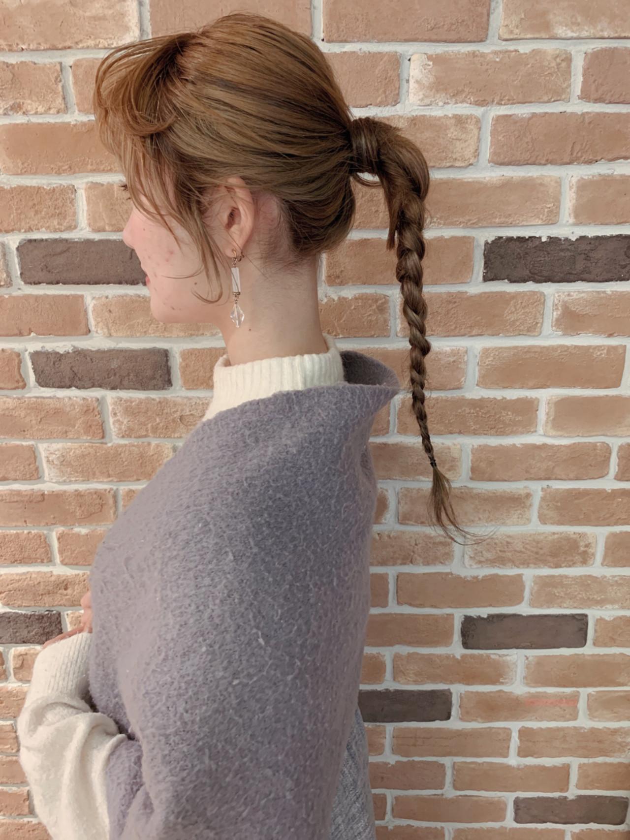 大人に似合う三つ編みの一つ結びアレンジ yumiko/sapporoSKNOW  SKNOW