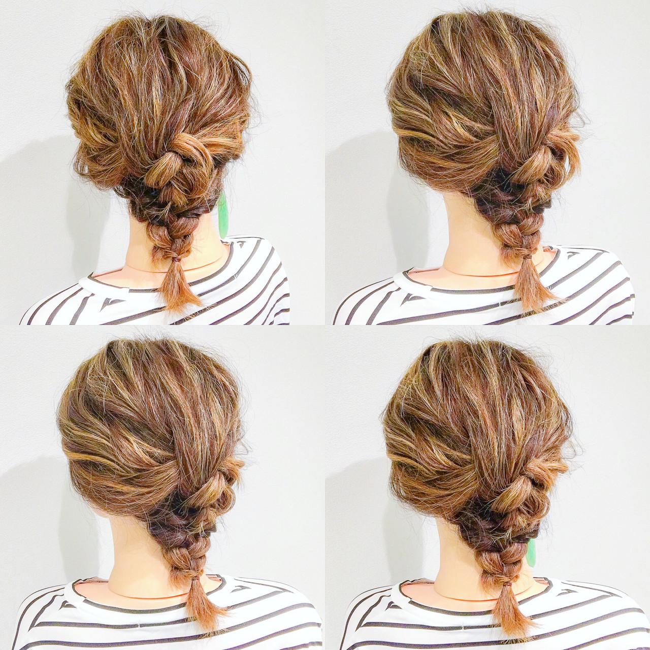 フェミニン ボブ ヘアアレンジ デート ヘアスタイルや髪型の写真・画像