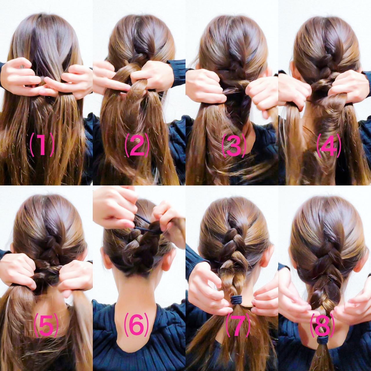 セルフヘアアレンジ エレガント 編み込み ヘアアレンジ ヘアスタイルや髪型の写真・画像