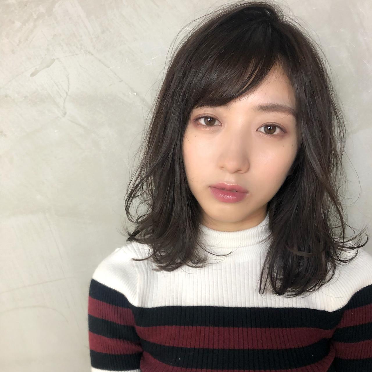 ミディアムヘア×斜め前髪は可愛くて上品 Ninomiya Takashi