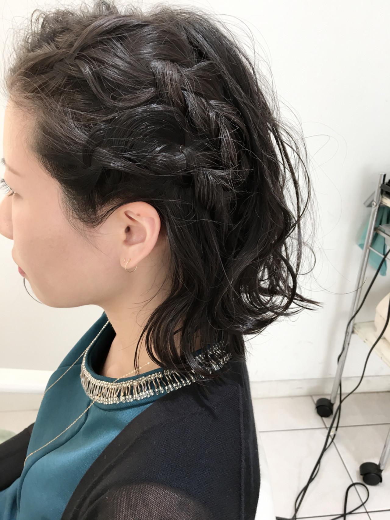ハーフアップ 簡単ヘアアレンジ ヘアアレンジ 三つ編み ヘアスタイルや髪型の写真・画像