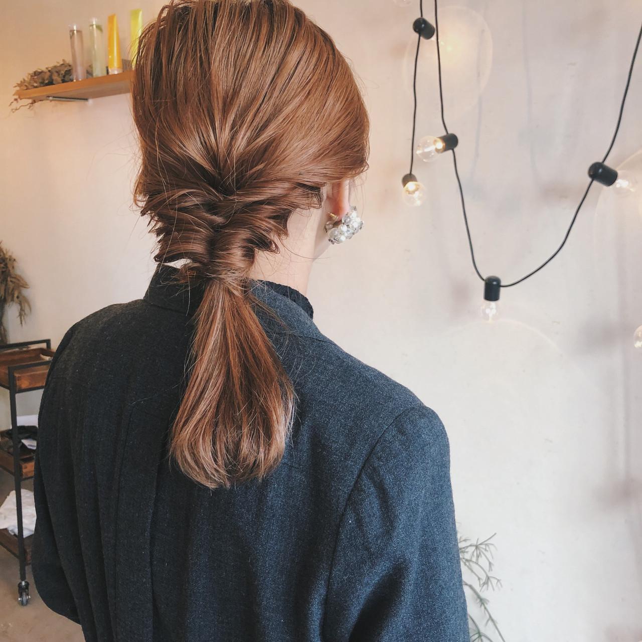 アンニュイでナチュラルな一つ結びアレンジ 原木翔太  lufun hair design ルファン