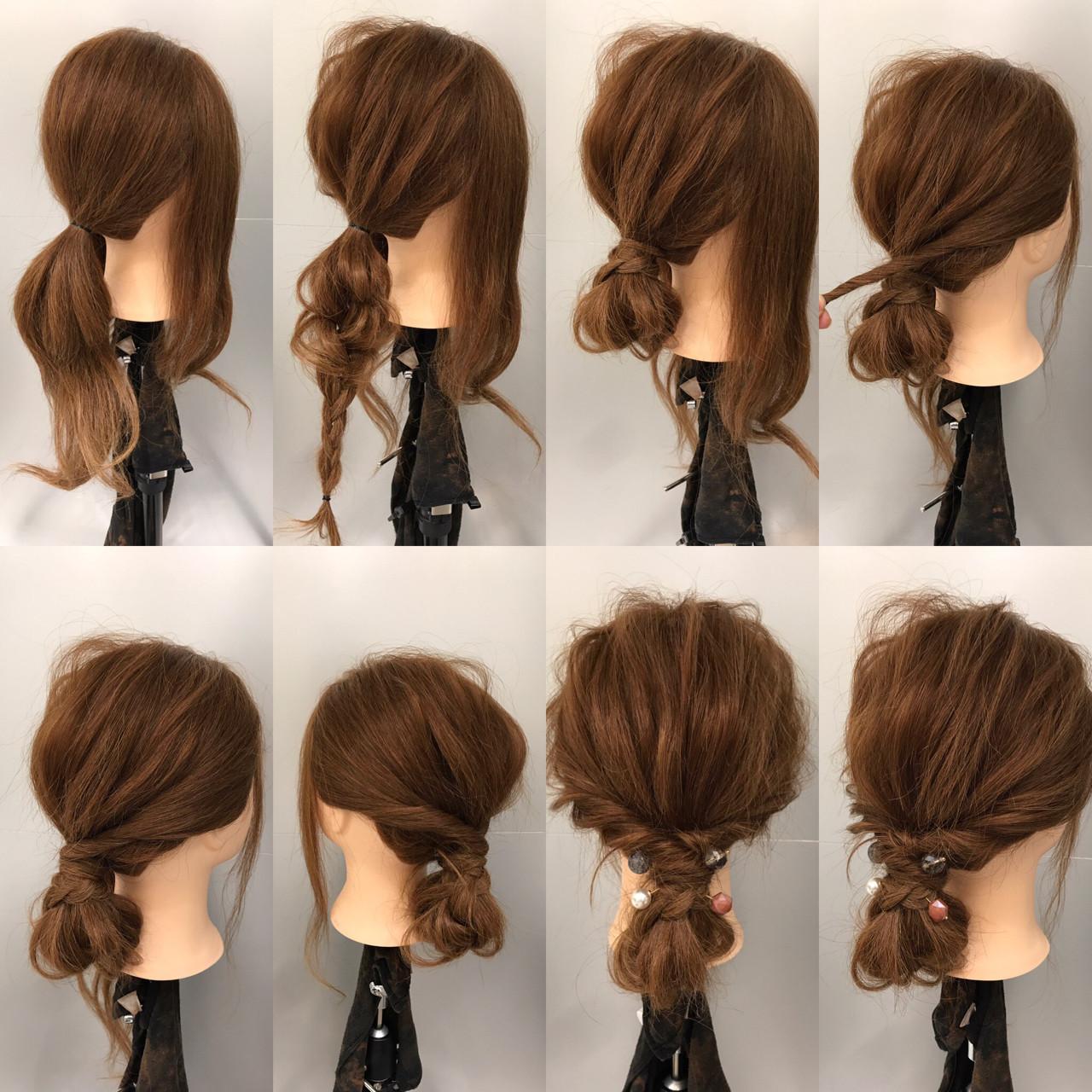 ナチュラル 簡単ヘアアレンジ ショート デート ヘアスタイルや髪型の写真・画像