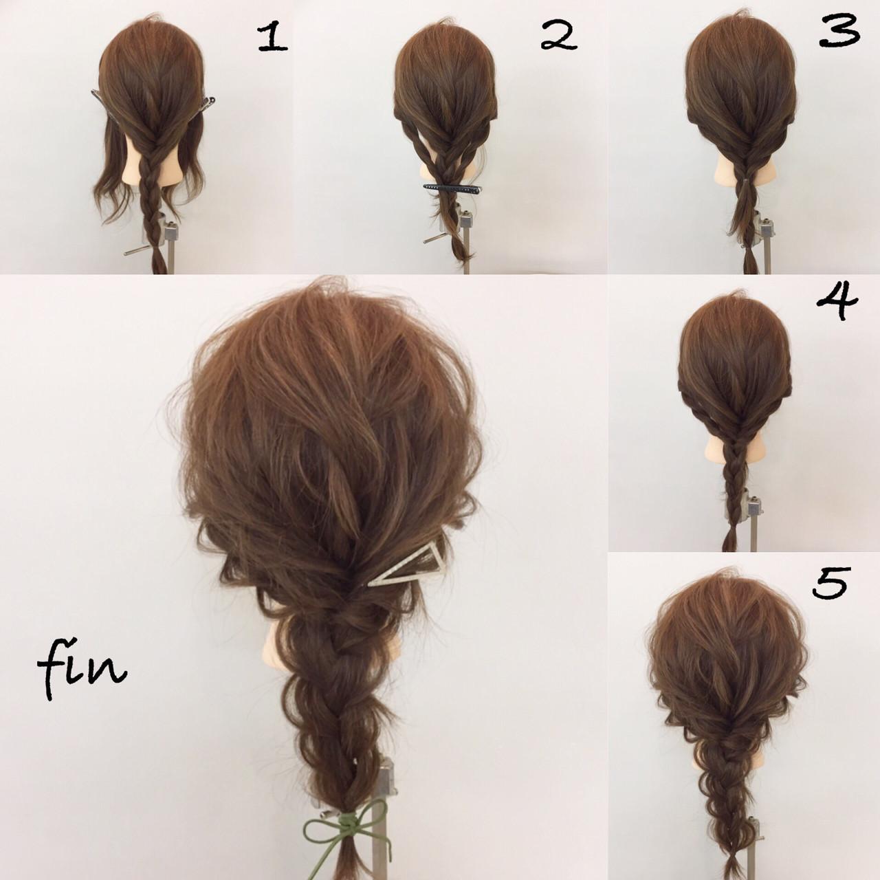 三つ編み ヘアアレンジ 編み込み 大人女子 ヘアスタイルや髪型の写真・画像