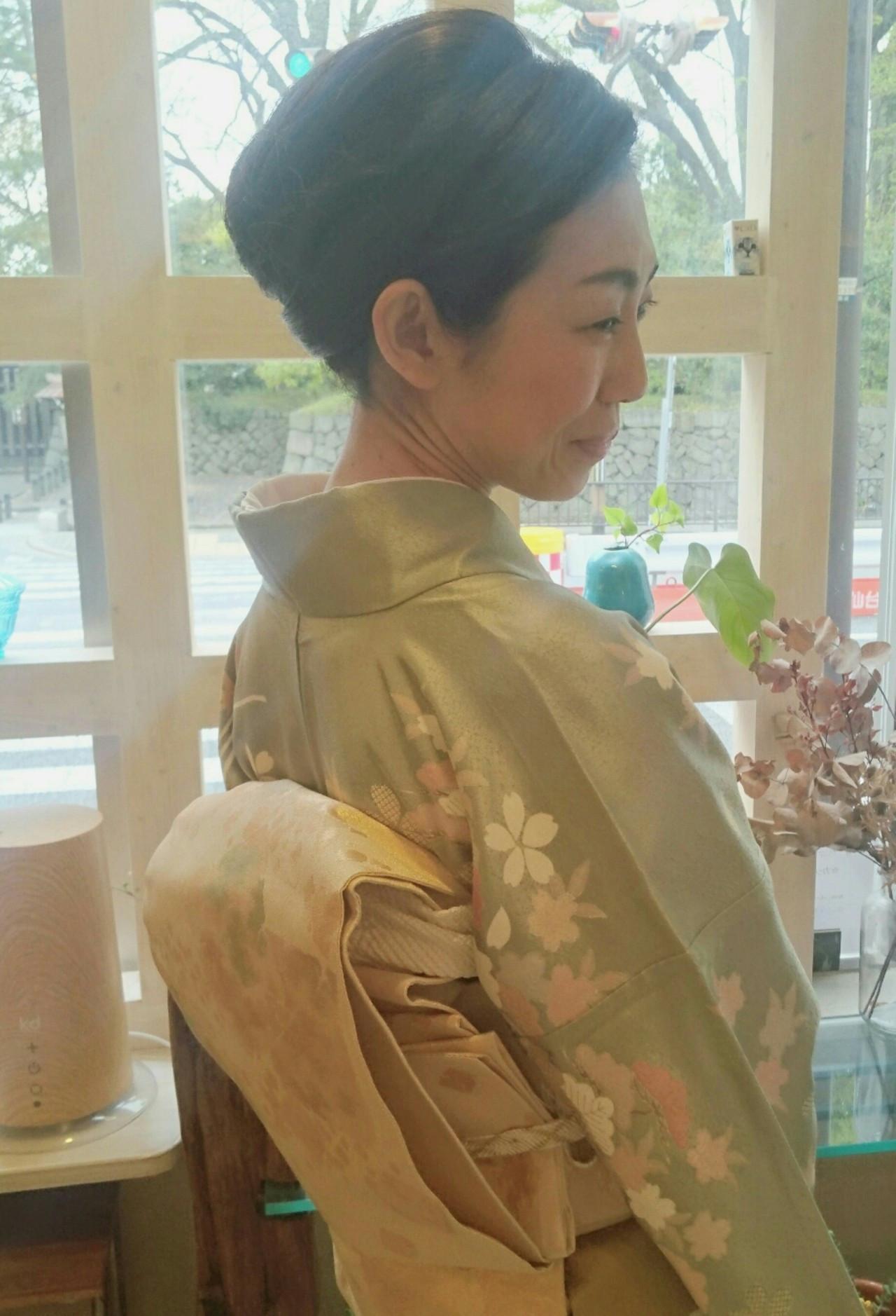 ほんのりセクシーな着物に似合うアップアレンジ Seiichirou Ueda  atelier luretta