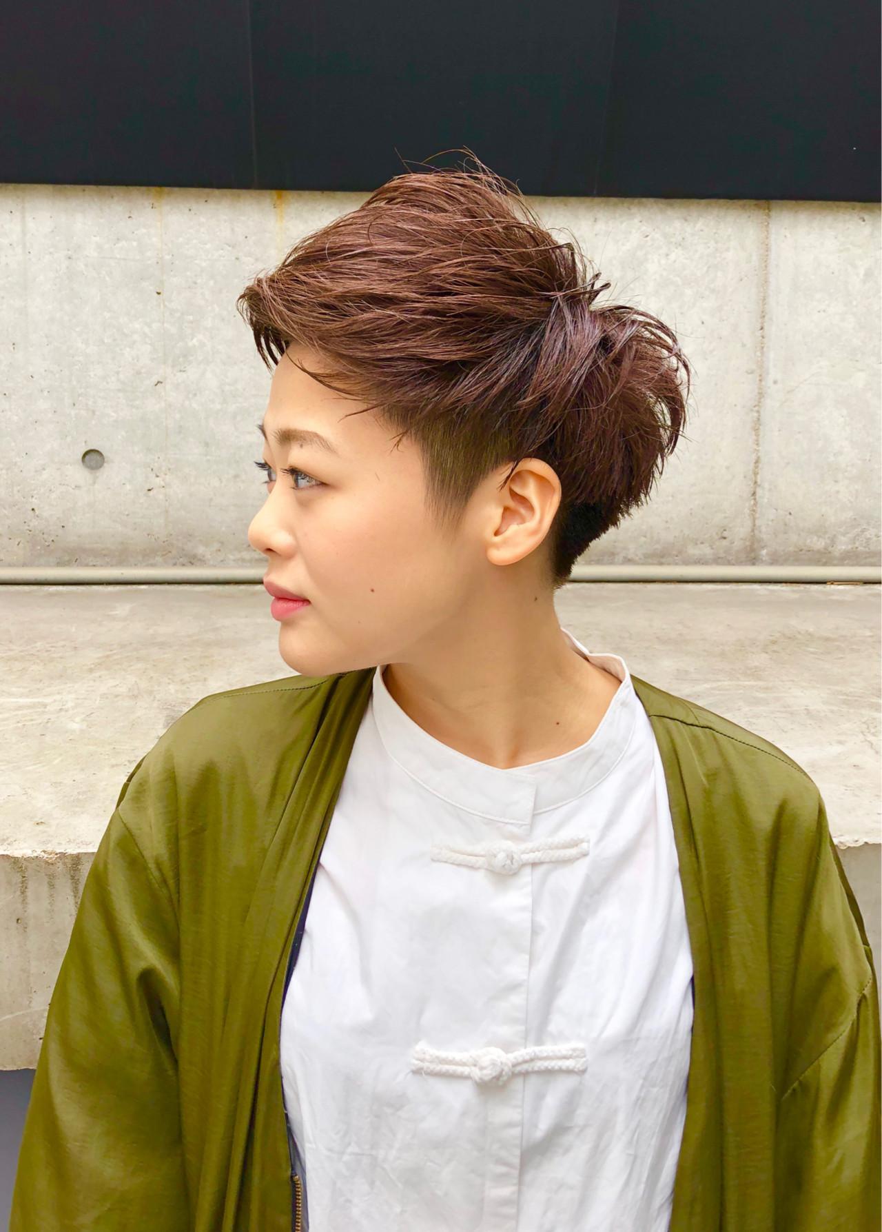 ストリート 刈り上げショート ベリーショート 刈り上げ ヘアスタイルや髪型の写真・画像