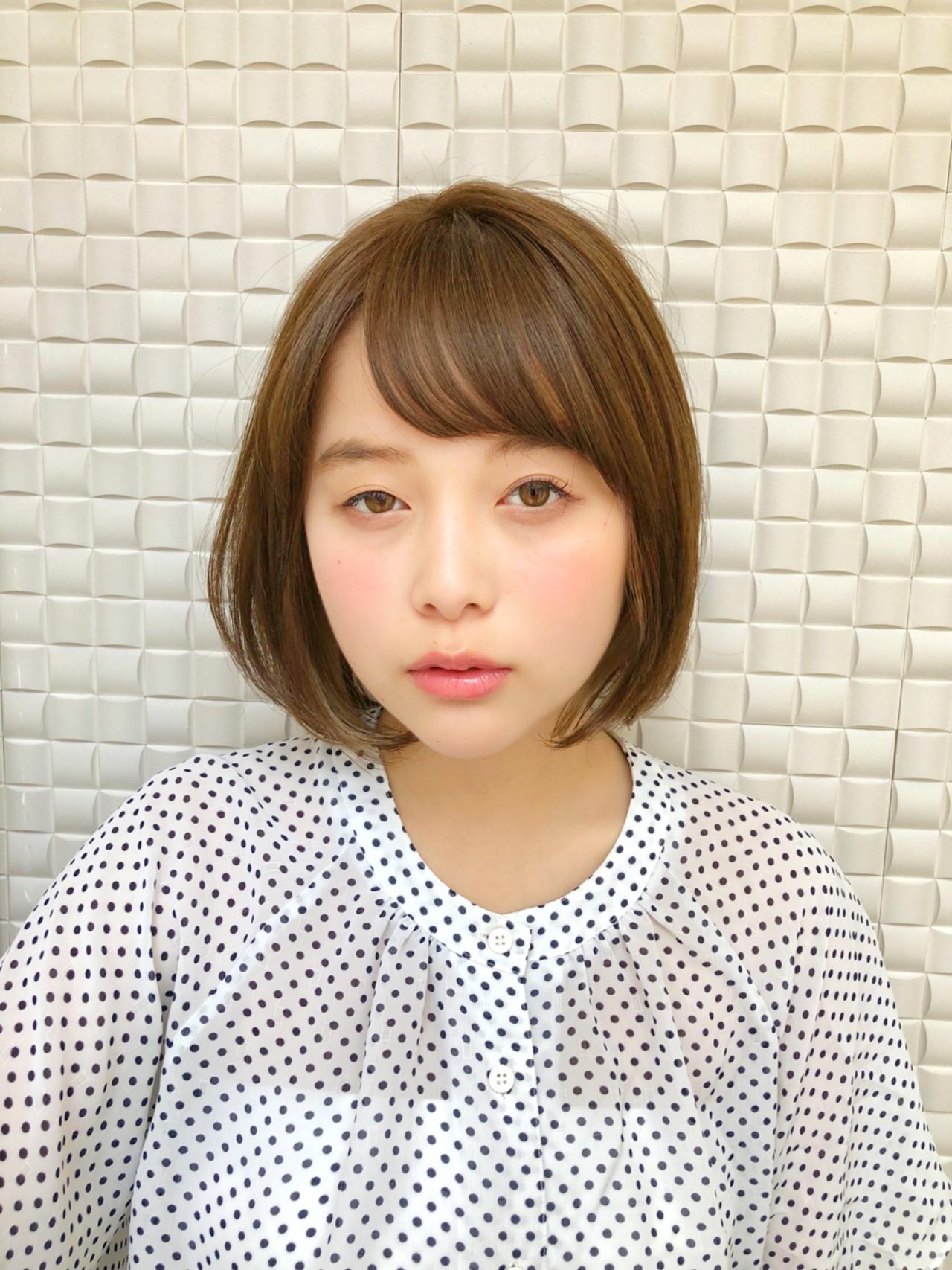 丸顔さんにおすすめ♪流し前髪の愛されボブヘア [新宿]内田航 柔らかストレートとミディアムボブ