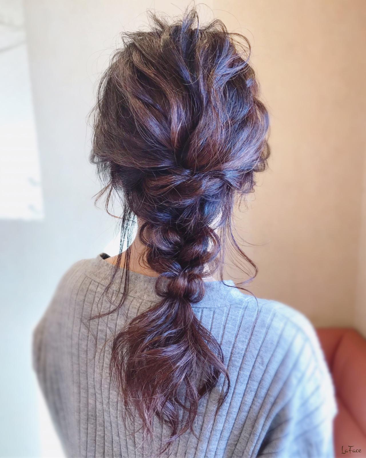 簡単ヘアアレンジ フェミニン お呼ばれ 結婚式 ヘアスタイルや髪型の写真・画像