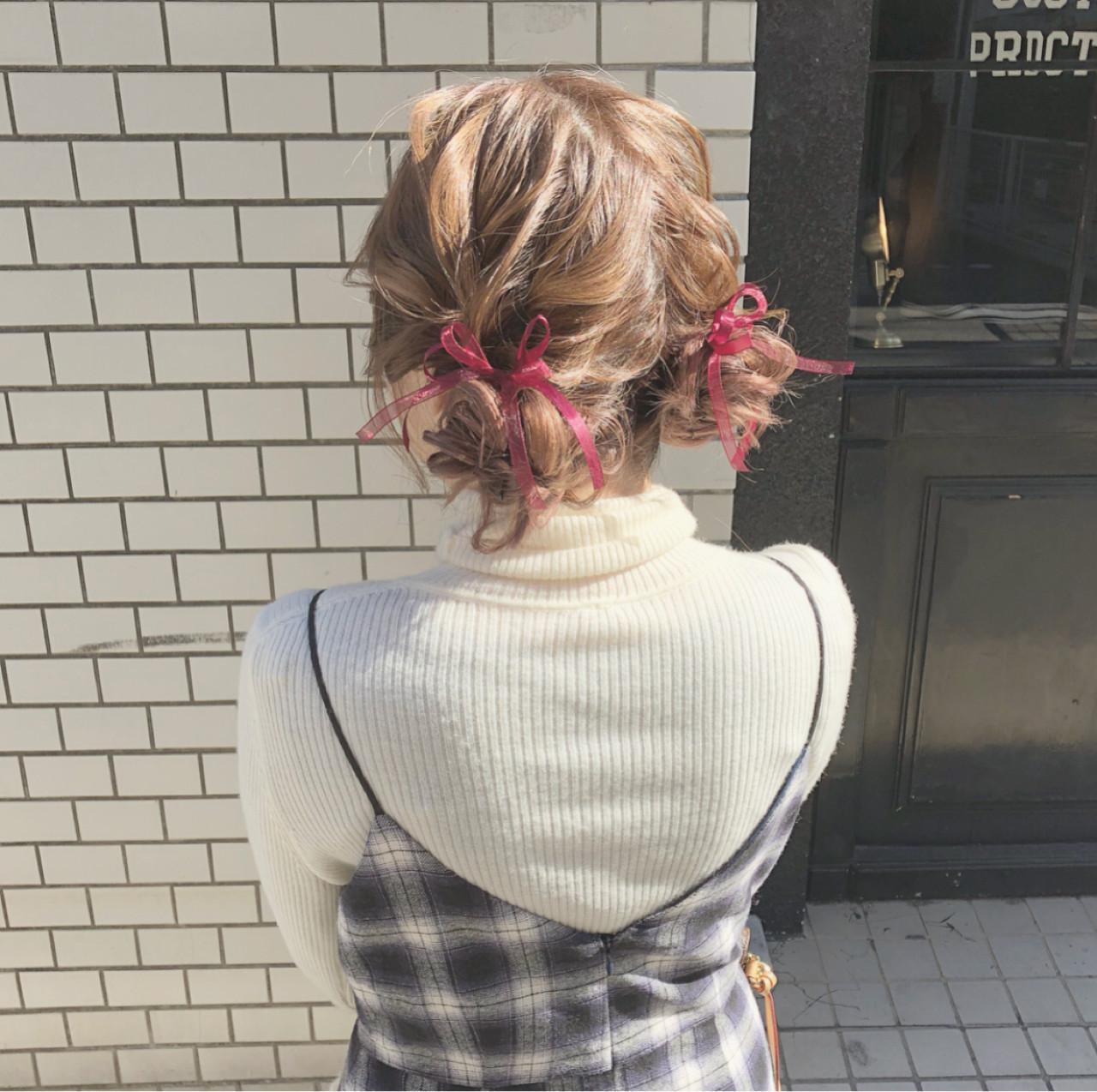 ツインお団子で可愛い髪型デビュー♡ hii.de@✂︎