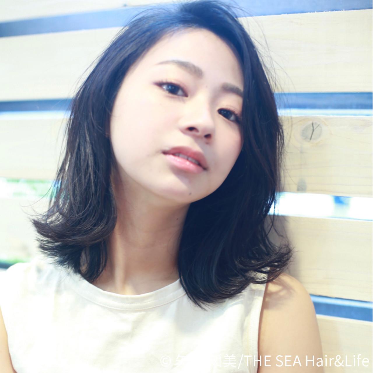 無造作なこなれ感たっぷりカジュアルミディアム 矢邊 知美/THE SEA Hair&Life  THE SEA Hair&Life