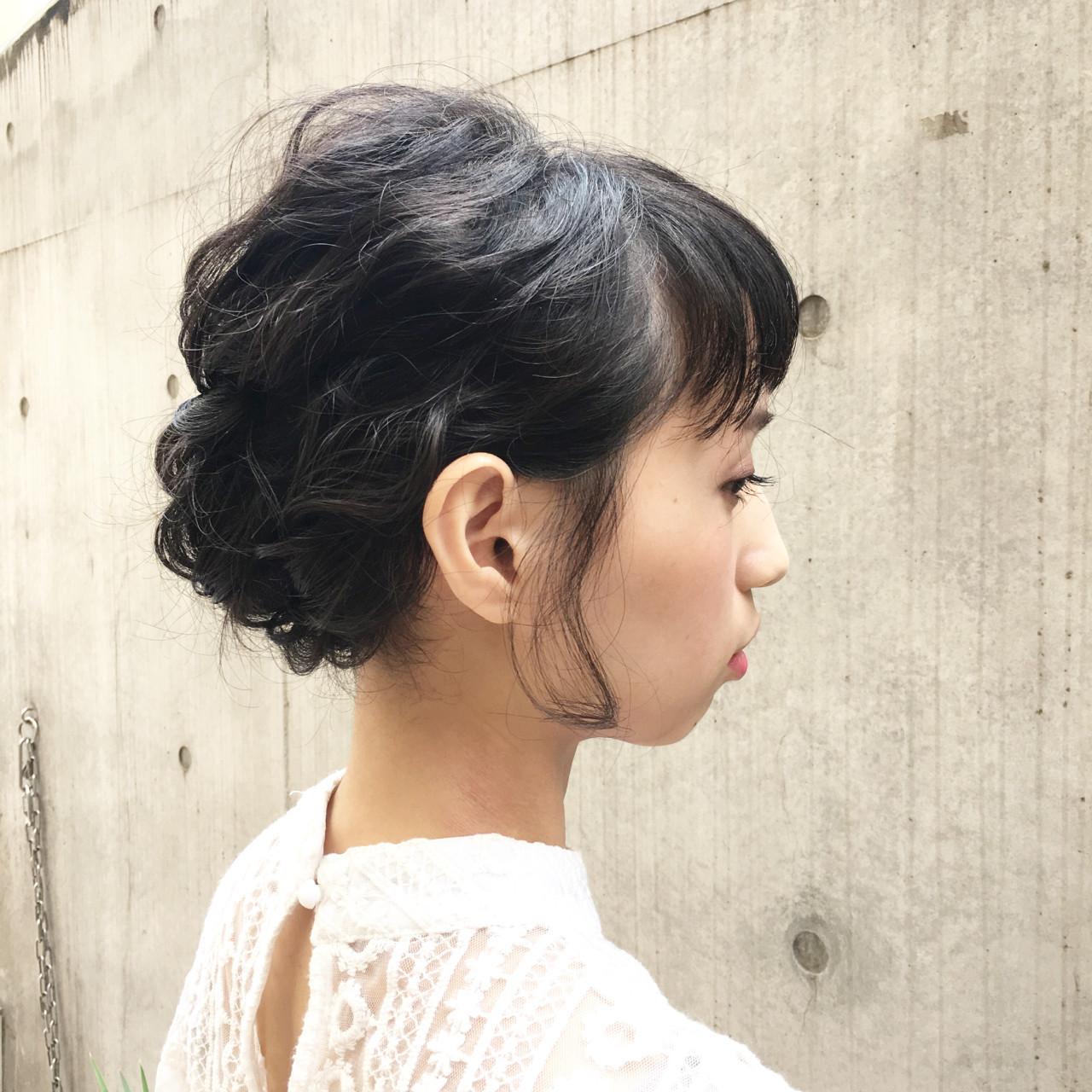 編み込みでゆるふわまとめ髪 中尾 寿揮