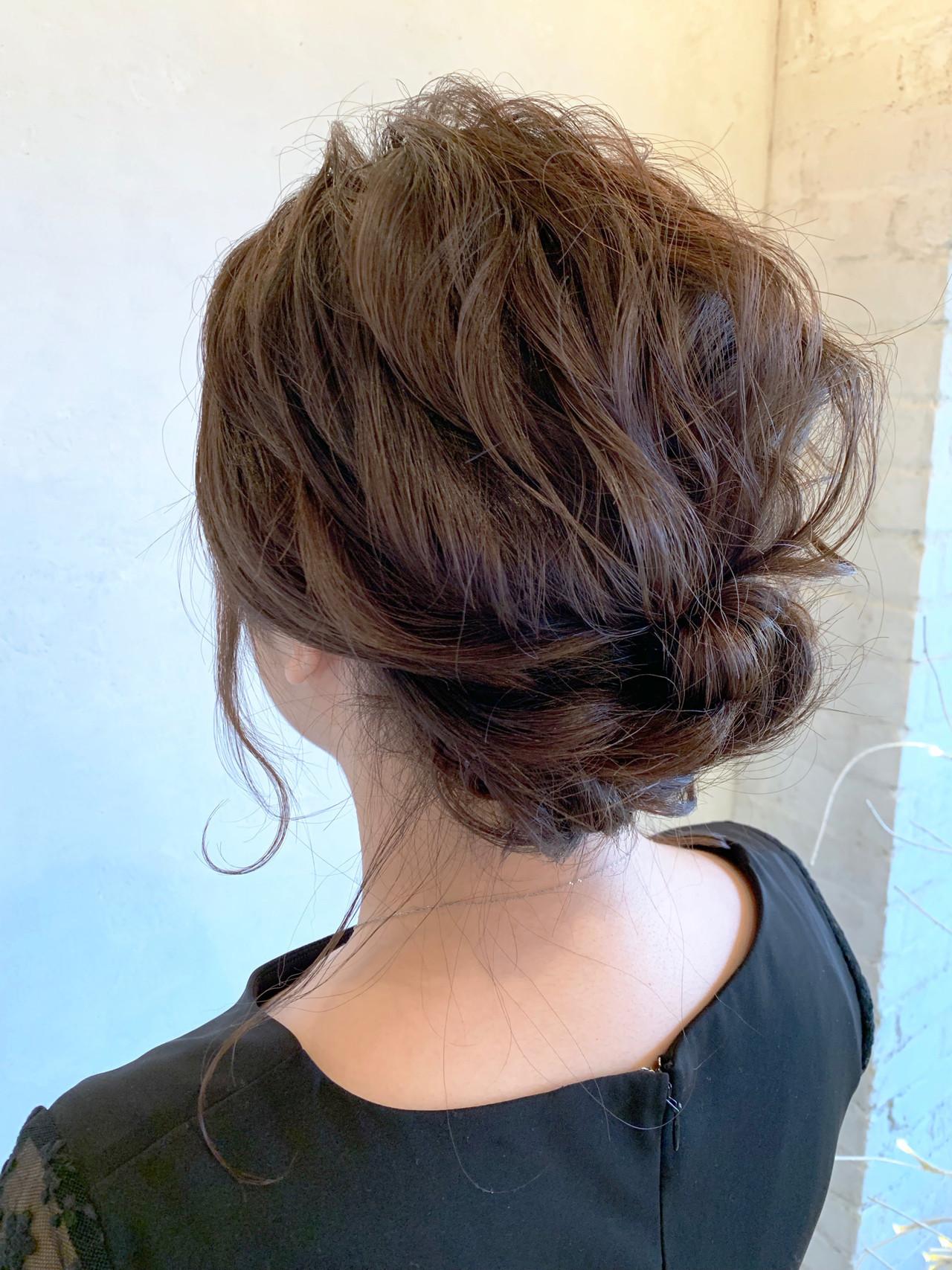 ボブ ヘアセット 結婚式 簡単ヘアアレンジ ヘアスタイルや髪型の写真・画像