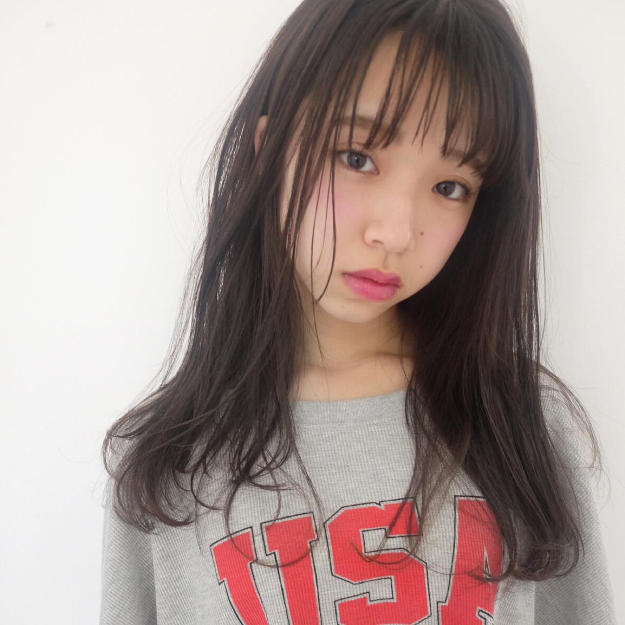 シースルーバングであどけな可愛いロング♡ 日比野 恵理