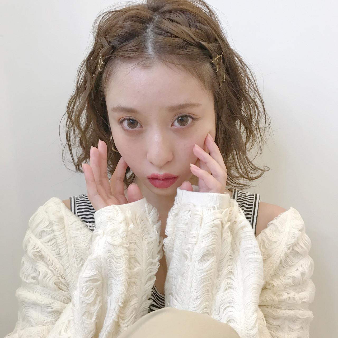 前髪を編みこんで簡単アレンジ アサダマユコ(hairmake)